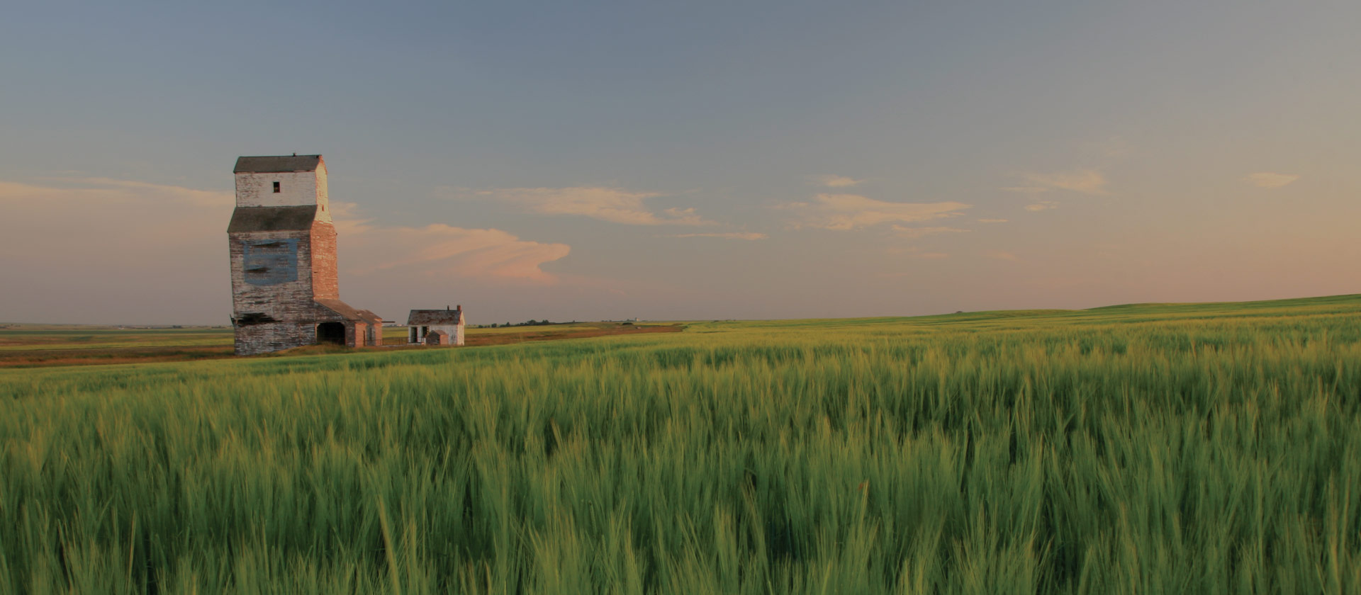 Wooden Grain Elevator on the Prairie