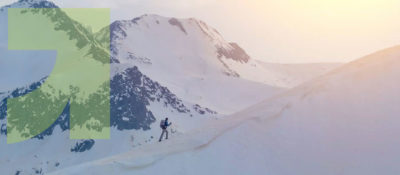 mountain skier banner