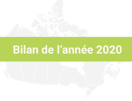 CBGF Bilan de l'année 2020